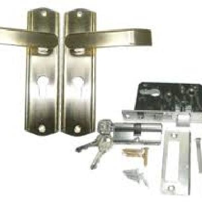 Toko Besi & Bangunan Tanjungsari Sumedang Kunci pintu lengkap dengan gagang berbagai merk dan ukuran