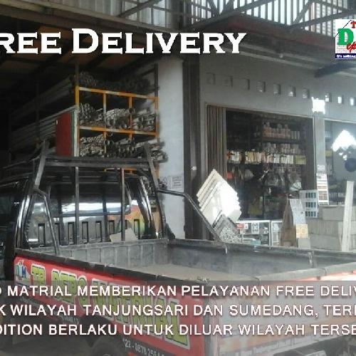 Toko Besi & Bangunan Tanjungsari Sumedang Free Delivery Toko kami menyediakan armada untuk mengirimkan barang yang dipesan oleh pelanggan, FREE DELIVERY, anda tidak dibebani biaya tambahan apapun untuk transportasi.